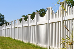 A white fence.