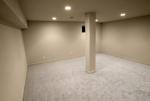 water proof painted basement