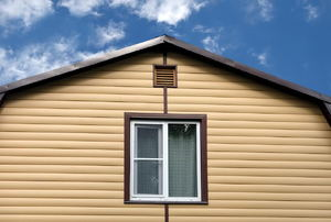 A home with vinyl siding.