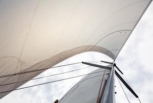 sail and hull of a boat
