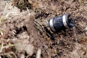 drain tile under ground