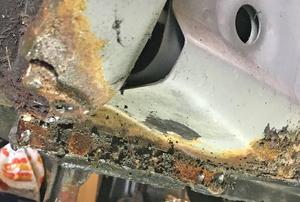 Rust on underside of a car