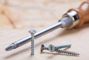 Phillips screwdriver and screws