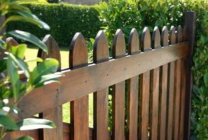 A wood fence.