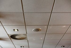 A typical office ceiling.