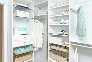 An organized closet.