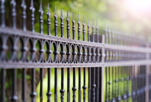 Length of wrought iron fencing