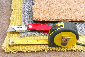 supplies for cutting a carpet patch