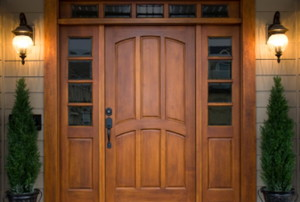 Beautiful Wooden Front Door