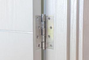 A door hinge.