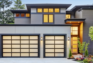 A house with a garage.