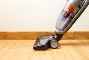A vacuum on wood.
