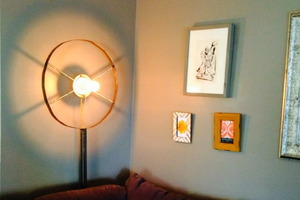 Make This Industrial Bull's-Eye Lamp for a Tight Space