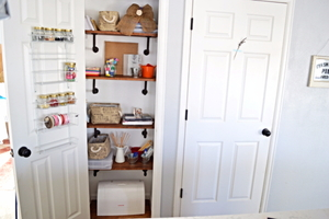 Create a Craft Storage Space in an Unused Closet