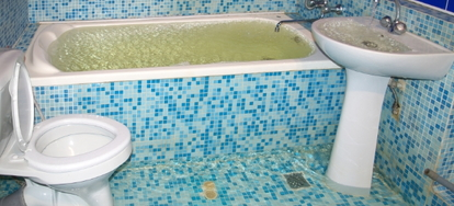 how to repair water damage in a bathroom doityourself com rh doityourself com Bathroom Subfloor Restoration Aqua Board for Bathroom Floor