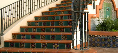 One Way To Dress Up A Wooden Staircase Is To Install Tiles On The  Kickboards. Wood Staircases Are Not Optimal For Tiling, But With Enough  Support And ...