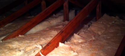 Placing The Fibergl Insulation Between Attic Floor Joists Effectively Insulates Lower Portion Of Your Home And Avoids Wasting Energy On Heating