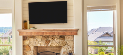 Remarkable Mounting A Plasma Tv On A Brick Wall Fireplace Interior Design Ideas Ghosoteloinfo