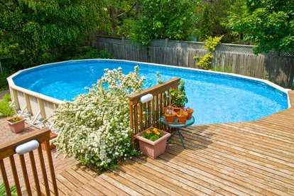 Build An Above Ground Pool Deck Step By Step Doityourself Com