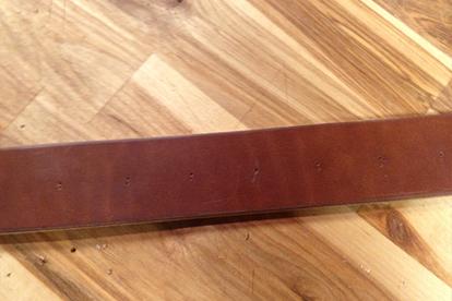 Leather Belt Hole Marks