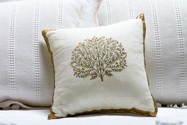 A painted pillow