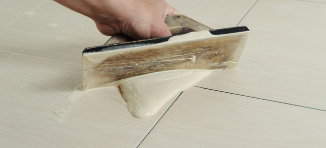 Grouting a Ceramic Tile Floor DoItYourselfcom