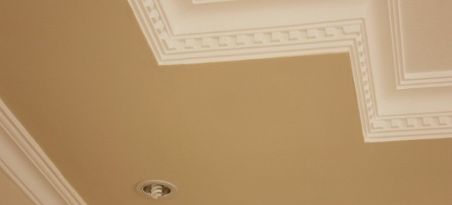 Cut Crown Molding For A Slanted Ceiling