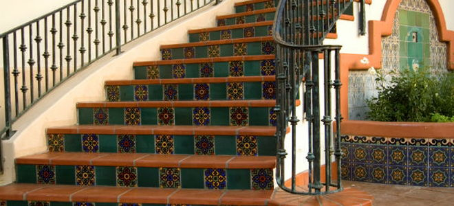 Captivating One Way To Dress Up A Wooden Staircase Is To Install Tiles On The  Kickboards. Wood Staircases Are Not Optimal For Tiling, But With Enough  Support And ...