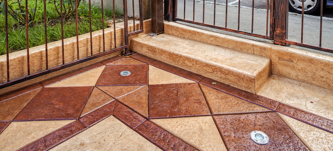How to Recolor Stamped Concrete Patios that Faded | DoItYourself.com