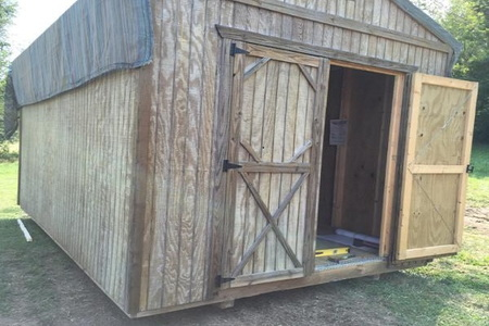 Building A Shed On Skids Doityourself Com