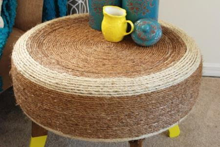 DIY Recycled Tire Table | DoItYourself