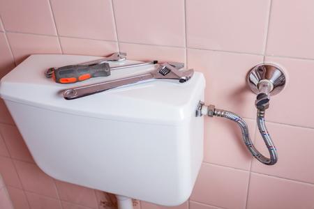Repairing a Leaking Toilet Water Supply Line ...