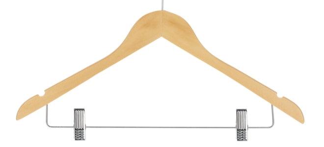 wooden pants hanger