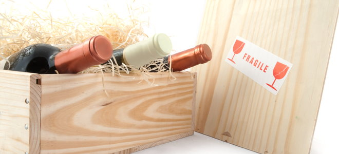wine boxes with wine