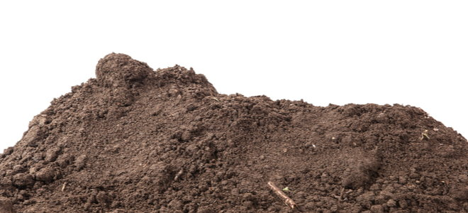 a pile of ordinary dirt