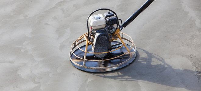 máy đánh bóng bê tông để tạo cho nó một lớp hoàn thiện mịn