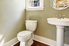 Simple bathroom with a pedestal sink