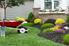 Mulch in a garden.
