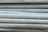 Twisted strands of stainless steel cable