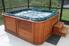 Hot tub inside a screened room