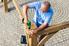 Man building a pergola