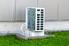 heat pump unit outside a building