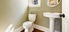 Simple bathroom with a pedestal sink