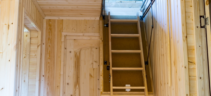 Garage Into Attic Door Installation How To Build Folding Loft Stairs  Doityourselfcom