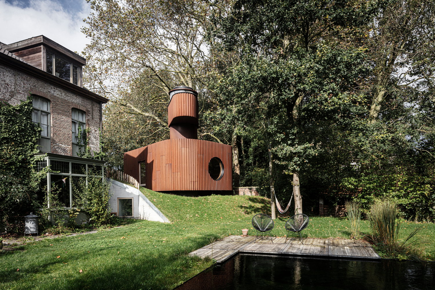 Quirky Guest House Pod in Ghent Boasts Its Own Lookout Tower