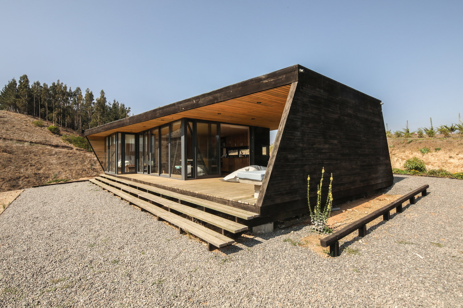 Cocooned Beach Cabin is Protected from the Sun and Wind