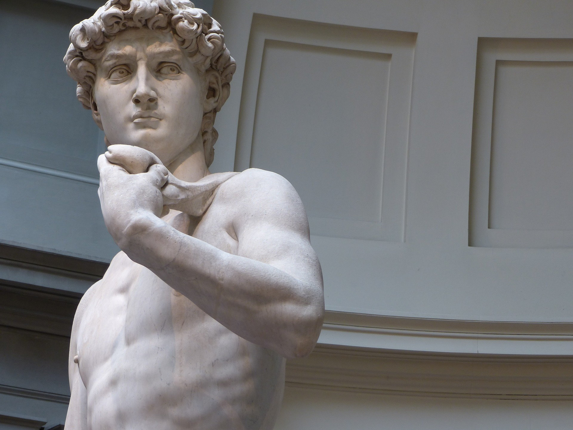 Close-up of Renaissance artist Michelangelo's timeless
