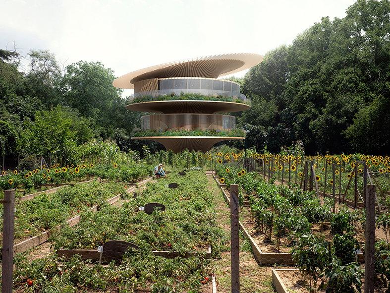 Sunflower House: Carbon-Positive Home?s Round Roof Follows the Sun