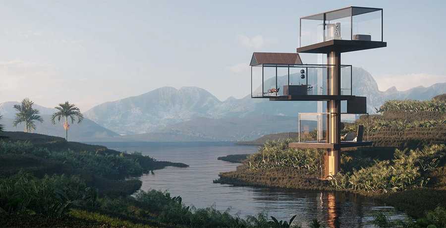 This Radiating Glass House Concept Pushes the Boundaries of Vertical Architecture