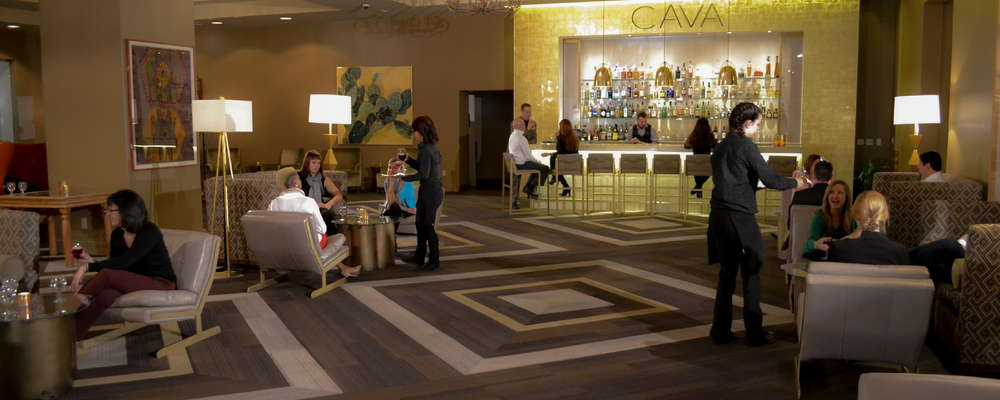 The inviting CAVA Santa Fe Lounge features a myriad of entertainment options and offers a menu takes diners on journey from the Basque region of Spain to South America and the New World.